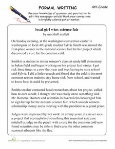 Worksheets: Learning Formal Writing