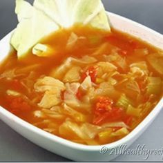 Cabbage Soup-Low Sodium @keyingredient #soup #tomatoes
