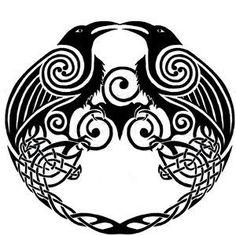 viking shield huginn and muninn tattoo | Huginn and Muninn