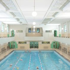 Veldstraat Art Deco Swimming Pool  Antwerp's oldest pool is a true gem. Built in 1933 in complete art deco style, it is undoubtedly one of Belgium's most gorgeous pools. Note: the Veldstraat swimming pool also houses a great spa (photos: Jef Claes).