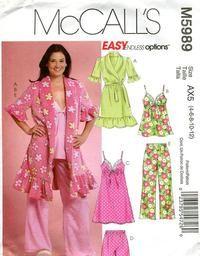 Lingerie Loungewear Pajamas Pjs Sewing Patterns 496341f61