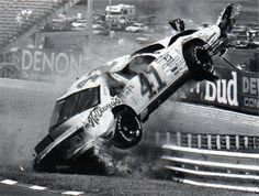 vintage nascar wreck pics | NASCAR crash pictures