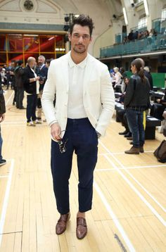 David Gandy attends London Fashion Week Men's June 2017 collections on June 12 2017 in London England