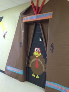 Image Of Thanksgiving Door Decorations Of The Door