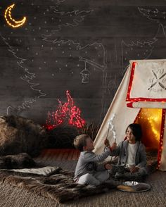 calling all campers. adventure awaits inside the comfortable confines of a canvas pitch tent. #rhbabyandchild