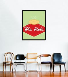 Pushing Daisies  The Pie Hole  11x17 by StrangewaysStudio on Etsy, $15.00