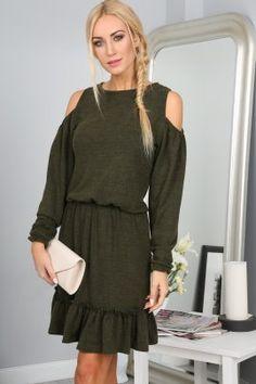 Khaki Sukienka 1007