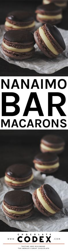 Nanaimo Bar Macarons - Yum!                                                                                                                                                                                 More
