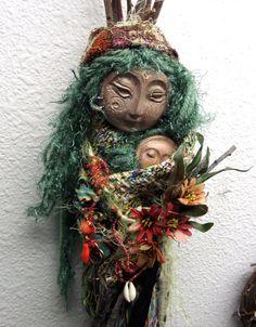 OOAK Parvati Moon Garden, Love, Devotion and  Healing. Bohemian Art Doll.