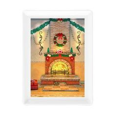 new at @CafePress : #Christmas #Fireplace Rectangular #Cocktail #Plate A wonderfully warm fire blazing in the Christmas fireplace  $11.49