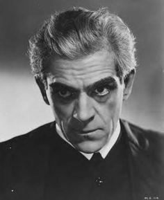 Karloff as the gloriously mad Dr. Laurience of The Man Who Changed His Mind (Gaumont-British, 1936).