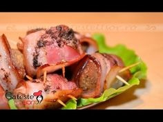 Ficatei de pui inveliti in bacon la cuptor Chicken Livers, Chicken Bacon, How To Cook Chicken, Paleo Bacon, Bacon Recipes, Chichen Recipe, Great Chicken Recipes, What To Cook, Roast