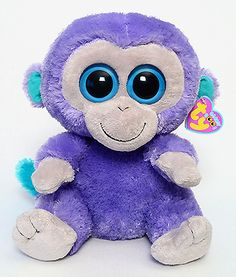 ae161f595d6 Blueberry (medium) - Monkey - Ty Beanie Boos Big Eyed Stuffed Animals