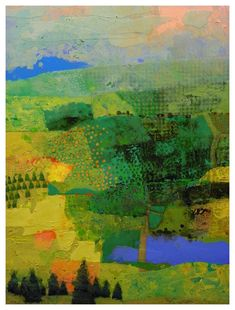 """Farm Pond"", andscape painting by Mark English"