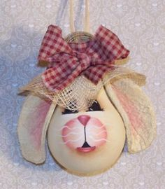 bunnybulbs. Maybe something similar easier that kids could help with. Googly eyes felt ears.