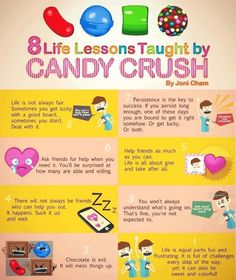 8 lessons taught by candy crush xD @Marlene Peña @Gianna Borkhuis Borkhuis Borkhuis Wiggins @Kristen - Storefront Life Casey