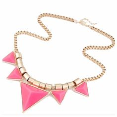 COMING SOON!Pink Triangle Statement Necklace! Details On Arrival! Price Firm unless Bundled! ❌Trades or PP Jewelry Necklaces