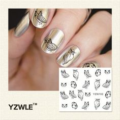 Lcj flower design watermark beauty nail art tips sticker full zko 1 sheet sketch owl design water transfer nail art stickers decals for nail tips decoration diy accessories 102 prinsesfo Choice Image
