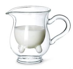 Heifer Milk Pitcher ... it's a pitcher with an UDDER, and it is fabulous!