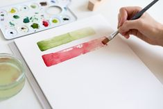 Plastic Cutting Board, Watercolor, Diy, Handmade, Inspiration, Watercolors, Main Colors, Color Boards, Floral Watercolor