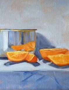 Still Life Oil Painting Citrus Fruit Gallery by smallimpressions, $100.00