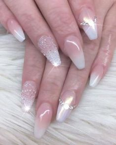 The Newly Leaked Secret To Bride Nails Art Designs Uncovered 85 Wedding Pedicure, Wedding Nail Polish, Bridal Nail Art, Wedding Nails For Bride, Wedding Nails Design, Nail Wedding, Nails By Kim, Finger, Bride Nails