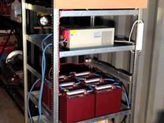 Shipping Container House - Small solar battery bank