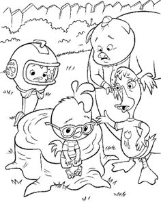 Friends Care With Chicken Little Coloring Page