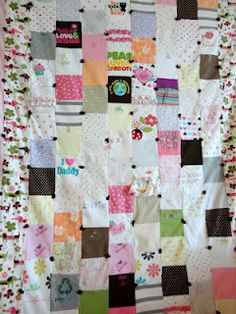 quilt made from onesies.  #quilt  #babyclothesquilt