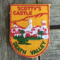 Scotty's Castle Death Valley National Park Vintage Souvenir Travel Patch from Voyager by HeydayRoadTrip on Etsy