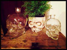 I love them.. #skull #bottle #glass #house #design