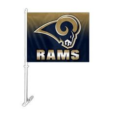 Ombre 2-Sided Car Flag - St Louis Rams