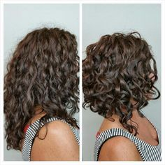 curly a-line bob - Google Search