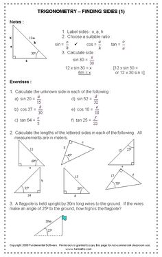 trigonometric ratios worksheets math aids com pinterest free worksheets and worksheets. Black Bedroom Furniture Sets. Home Design Ideas