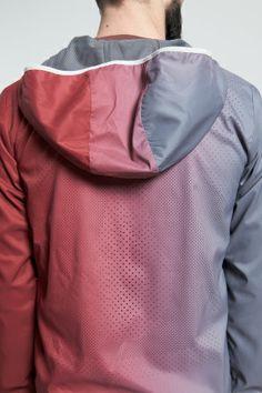Shop for Nike Sportswear Outerwear for Men | x UNDERCOVER Gyakusou Sweat Map Jacket in DARK GREY/TEAM RED | Incu