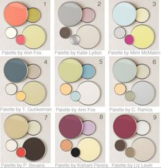 palettes by designers. i love 4 + 5