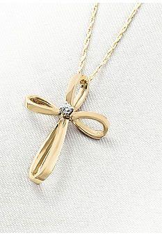Belk & Co. Diamond Cross Pendant #belk #accessories