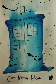 I have a few friends who would enjoy a watercolor Tardis I think. I Am The Doctor, Doctor Who Art, Tardis Art, Best Insults, Geek Humor, Geronimo, Blue Box, Nerdy, Geek Stuff