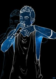 tyler joseph |-/ clique art |-/ twenty one pilots don't know who did this but its awesome