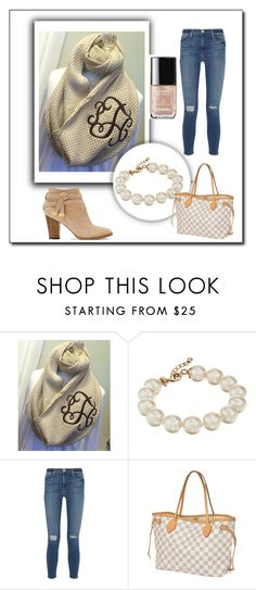 """""""Beautiful Beige!"""" by tallentfamily on Polyvore featuring Kate Spade, Frame Denim, Louis Vuitton, White House Black Market and Chanel"""