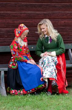 Folklore costumes from Dala-Floda in Darlecarlia, Sweden) Folklore, Folk Costume, Costumes, Swedish Christmas, Swedish Style, Textiles, World Cultures, Sandro, Traditional Dresses