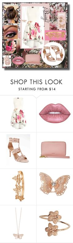 """Spring Blossoms"" by snowflakeunique ❤ liked on Polyvore featuring Lime Crime, Banana Republic, FOSSIL, Allurez, LC Lauren Conrad, Alex Monroe and Catbird"