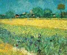 Vincent Van Gogh - Post Impressionism - Arles - Vue d'Arles avec iris au premier plan - 1888