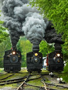 .3 steam engine trains...The one I love the most...
