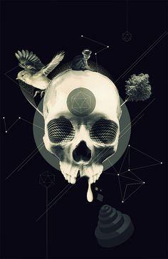 crazycraneo by felipeaguilera www.creativeboysclub.com/tags/we-love-skulls