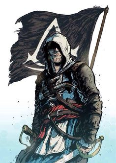 Assassins Creed Asasin Creed, All Assassin's Creed, Assassins Creed Black Flag, Assassins Creed Series, Edwards Kenway, Game Concept Art, Xbox, Game Character, Jackdaw