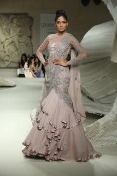 Gaurav Gupta - India Couture Week 2016 pinned by A Sari A Day - Muslim Wedding Dresses, Indian Wedding Outfits, Bridal Outfits, Indian Outfits, Indian Gowns, Indian Attire, Hindus, Look Fashion, Indian Fashion