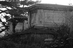 Two mausoleums, churchyard Hendon London NW4, 29th December 2014
