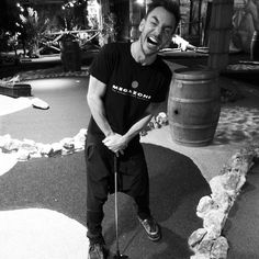 Mini golf madness with @Shannon Bellanca Leto #JL #JaredLeto #ShannonLeto #minigolf