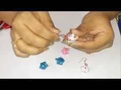 Learn How to make Origami Star Earrings Star Earrings, Diy Earrings, Book Page Crafts, How To Make Origami, Paper Weaving, Origami Stars, Book Pages, Washi, Quilling